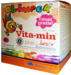 Детские мульти витамины Olimpek Vita-Min plus Junior 15 пакетиков Киев купить Украина