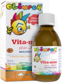 Витамины для детей Olimp Vita-min plus Junior Multivitamina Olimpek 150 мл Киев купить Украина