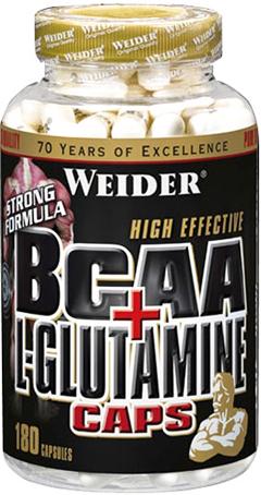Weider BCAA + L-Glutamine Caps 180 капсул Киев купить Украина